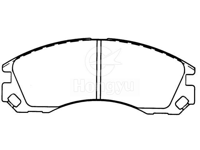Brake Pad Setmr 289 610 Chongqing Hongyu Friction Pro Ducts Co Ltd