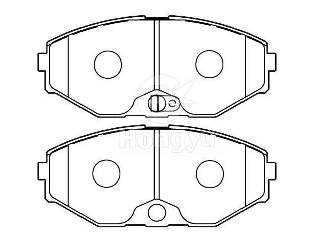 Brake Pad Set41060 0p690 Chongqing Hongyu Friction Pro Ducts Co