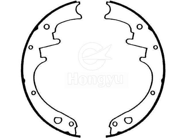 Brake Shoe Setd6dz 2200 A Chongqing Hongyu Friction Pro Ducts Co